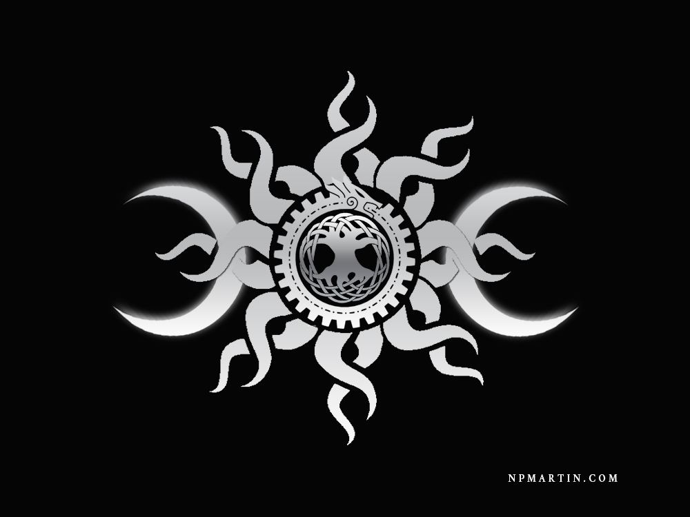 Druid Symbol Design Gray by WeirdDarkness