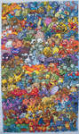Epic Pokemon Generation 1 Cross Stitch Complete