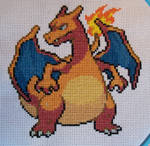 Charizard Pokemon Cross-Stitch SOLD!