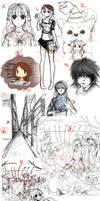 Sketch Dump 2014 by Yokuna-chan