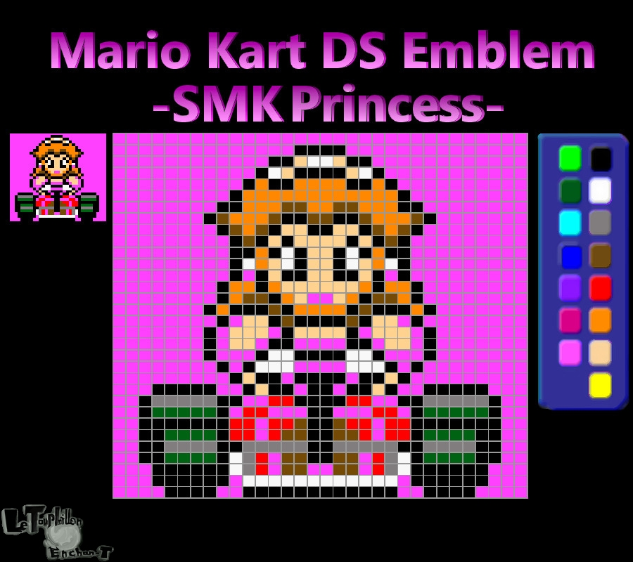 Mario Kart Ds Emblem Smk Princess Reupload By Lte T On