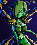 Queen Gohma (Gijinka) by LTE-T