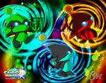 Chao World Season 3 - Three Ninjas Wallpaper.