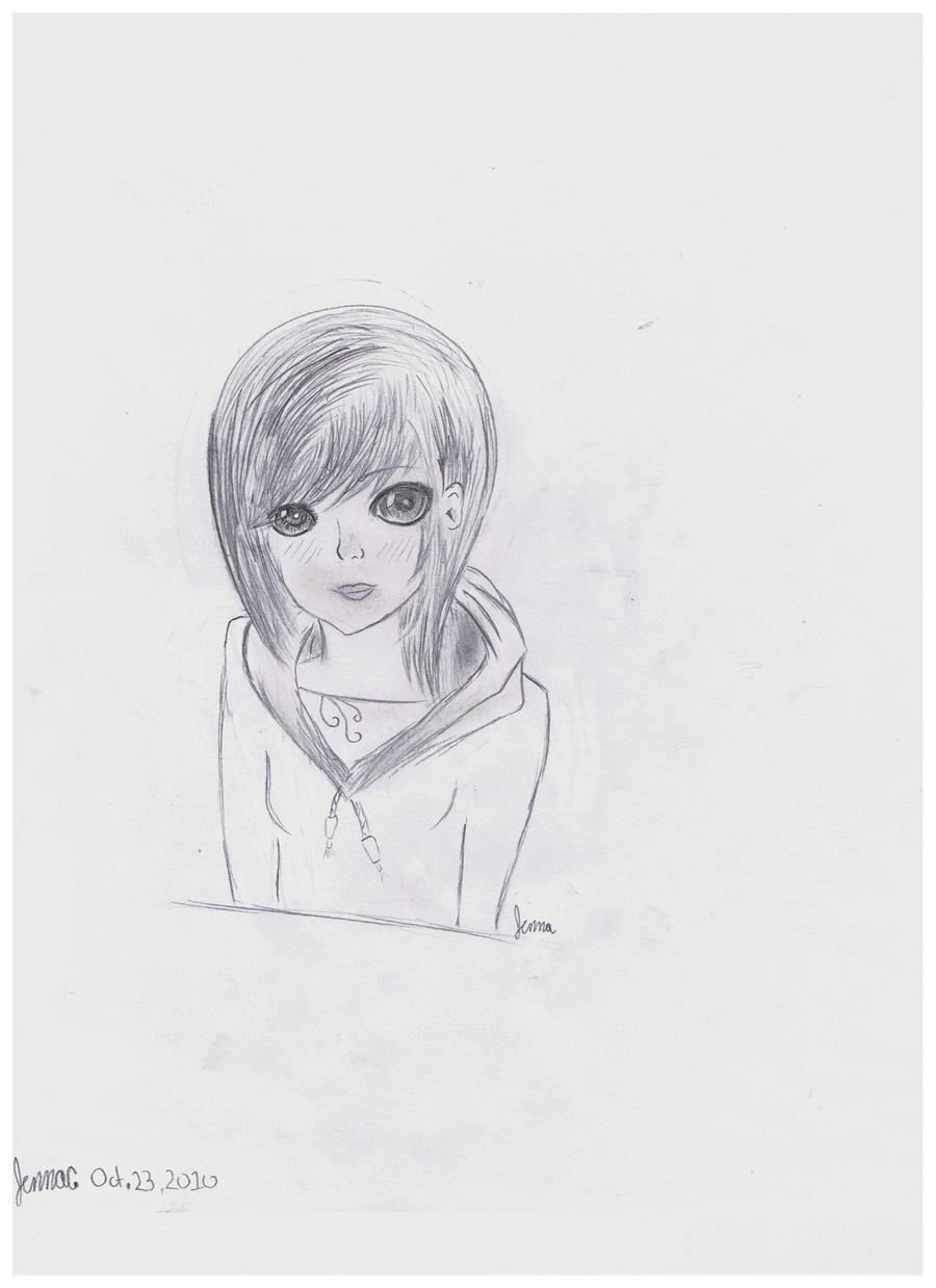 how to draw anime wearing hoodies