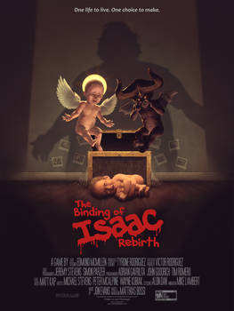 The Binding of Isaac Rebirth Movie style poster