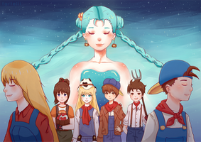 Happy 20th Anniversary Harvest Moon by Tartelii
