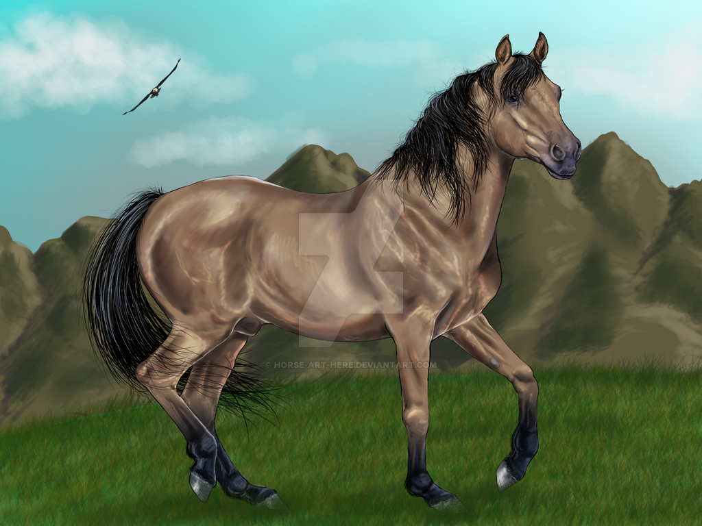 Spirit The Stallion Of The Cimaron by horse-art-here