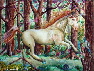 Springtime Unicorn by Skarbog