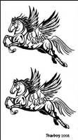 Pegasus tattoo design 2