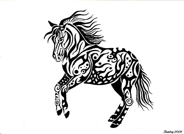 Dancing Horse by Skarbog