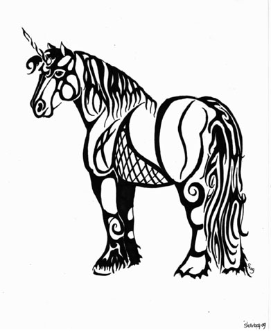 Pin Tribal Unicorn Tattoo Design New Pictures Page 2 on Pinterest