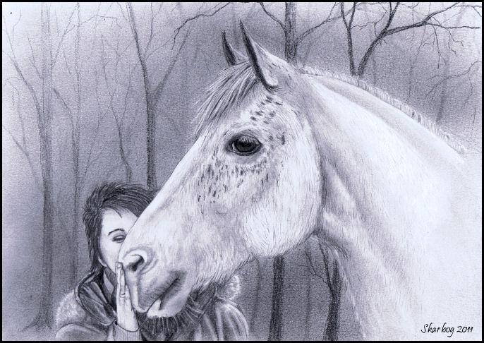 Wonderbaar Na lange tijd....... een paard - SchilderenEnzo JY-94
