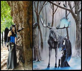 Skarbog blua and painting birth of magic
