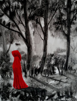 Red Riding with raven