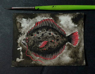 Inktober 2020 day 1:  Fish