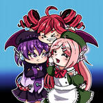 UTAU Kasane Teto, Defoko and Momone Momo