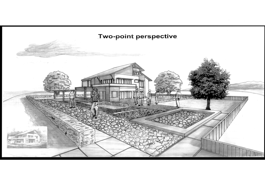 Two point perspective by gtone339 on deviantart for Architecture modern house design 2 point perspective view