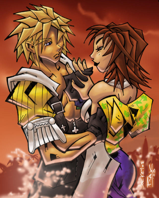 final fantasy X 10 colored by joekey