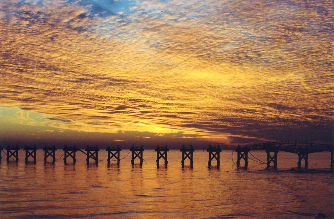 Biloxi Sunset I by fingers2002