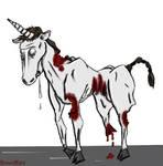 Zombie Unicorn Painted