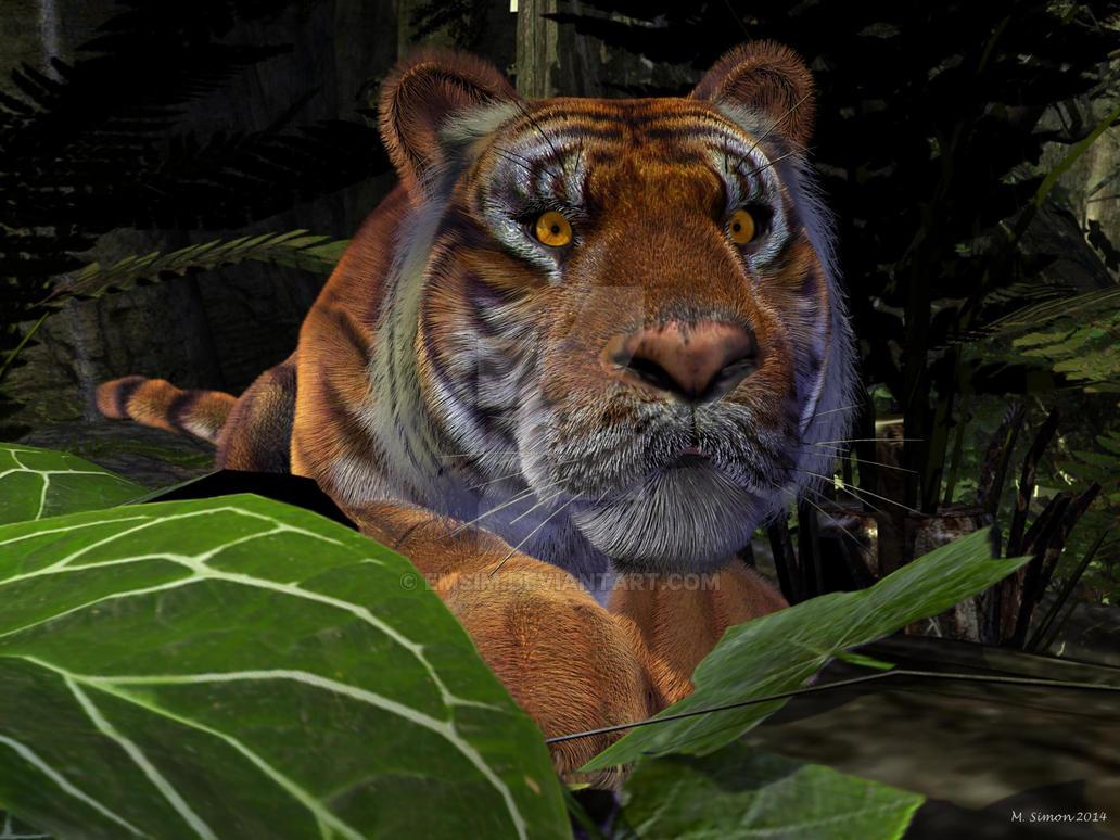 Crouching Tiger by emsim