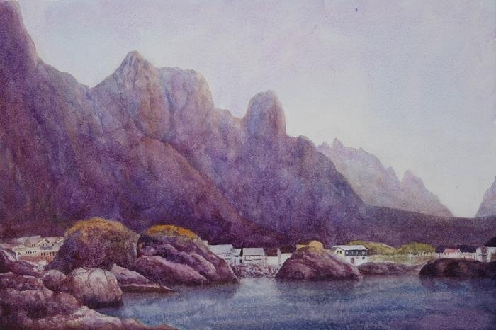 Leaving Svolvaer by EinarAasen