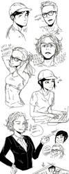 Art Dump Youtubers #1 by maikeru-mia