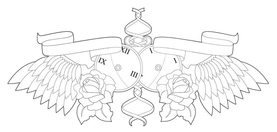 Clock Chest Piece - chest tattoo