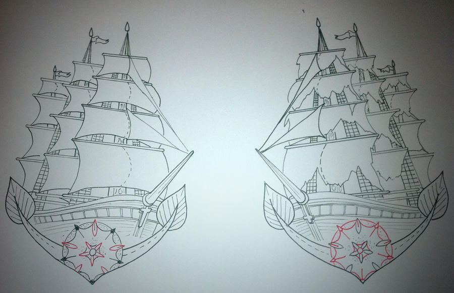 Old Ship Tattoo Designs Wrist