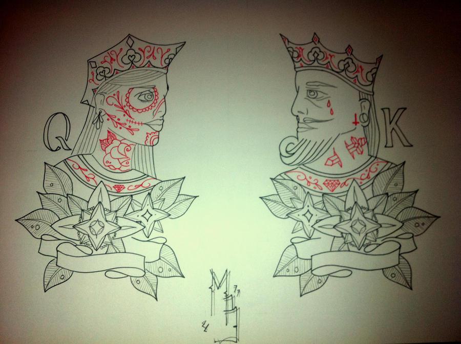 King Queen Tattoos