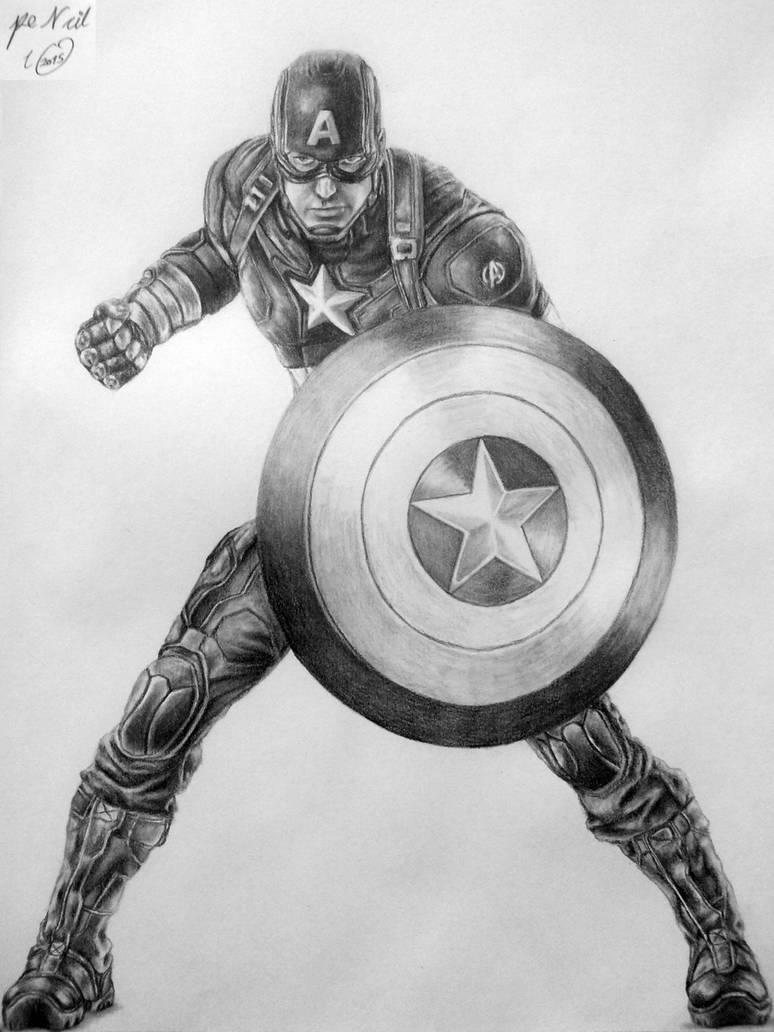 Captain america by pencilir on deviantart