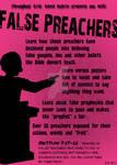 False Preacher's promo poster