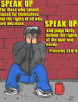 Speak Up For The Poor
