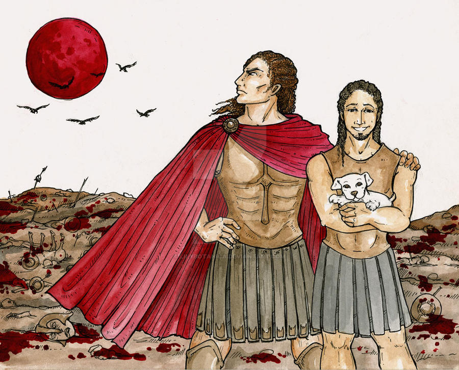 Achilles and Patroclus by LilyBotanica on DeviantArt
