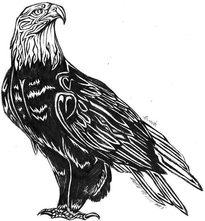 94e501781 Tribal Eagle by SaltyPuppy on DeviantArt