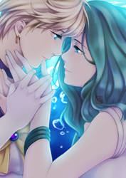 Sailor Uranus and Sailor Neptune by E-Mika-Zg