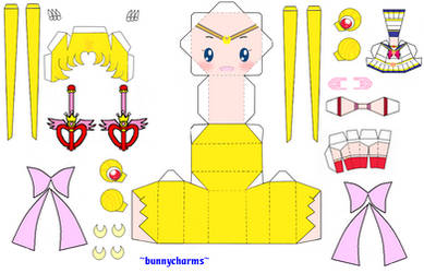 Sailor Moon S Papercraft by bunnycharms