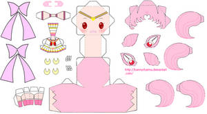 Sailor Chibi Moon Papercraft by bunnycharms