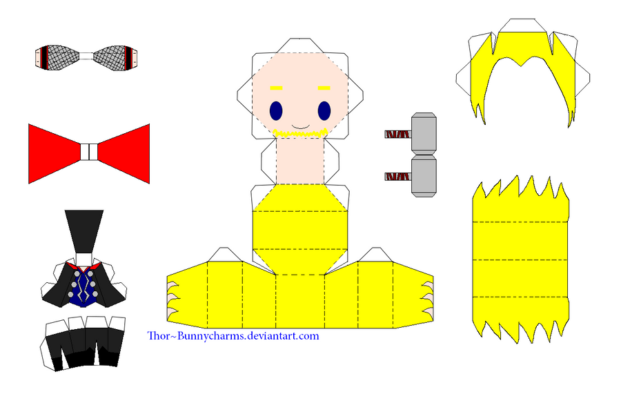 Thor Papercraft Template by bunnycharms