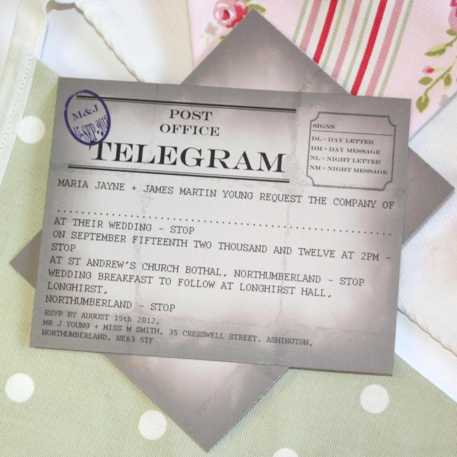 Telegram Wedding Invitation By GraphicEmbers On DeviantART