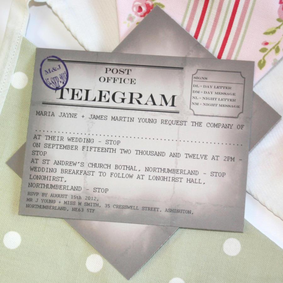 Telegram Wedding Invitation by GraphicEmbers