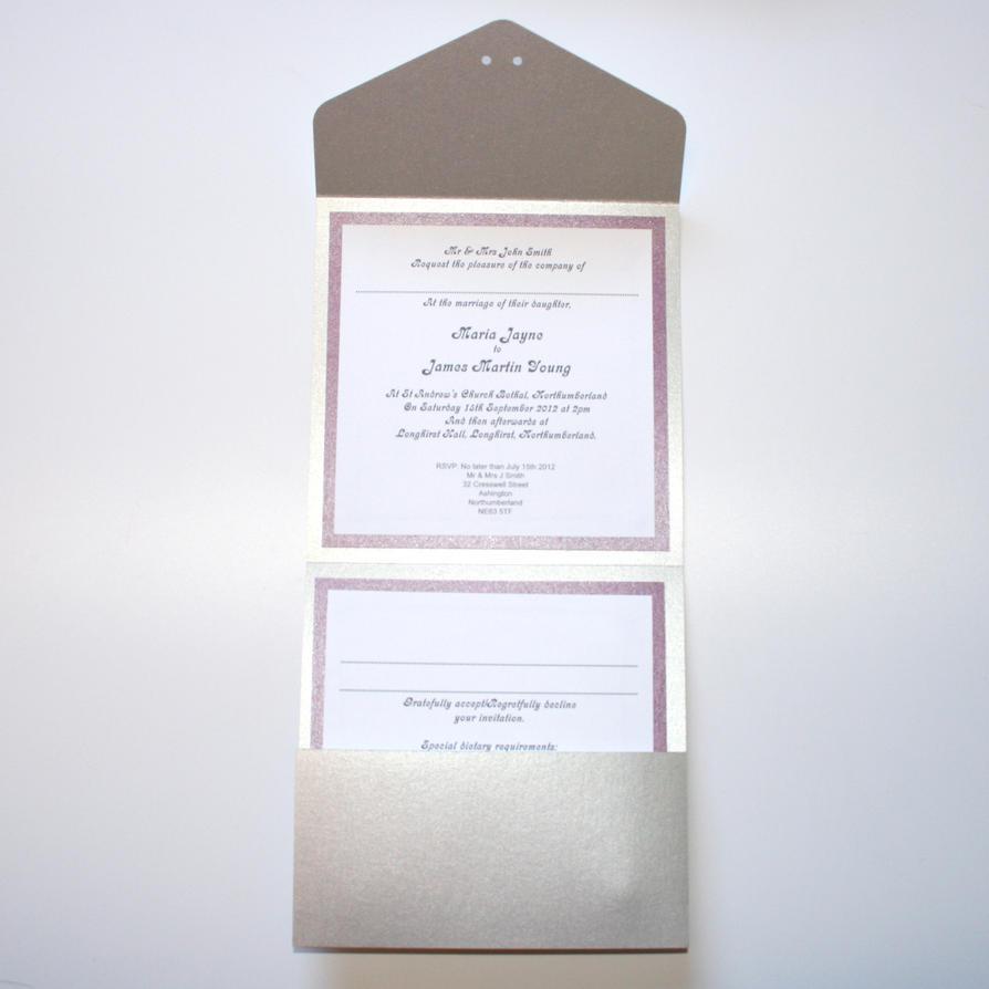 Engraved Pocket Fold Wedding Invitation Inside by ...