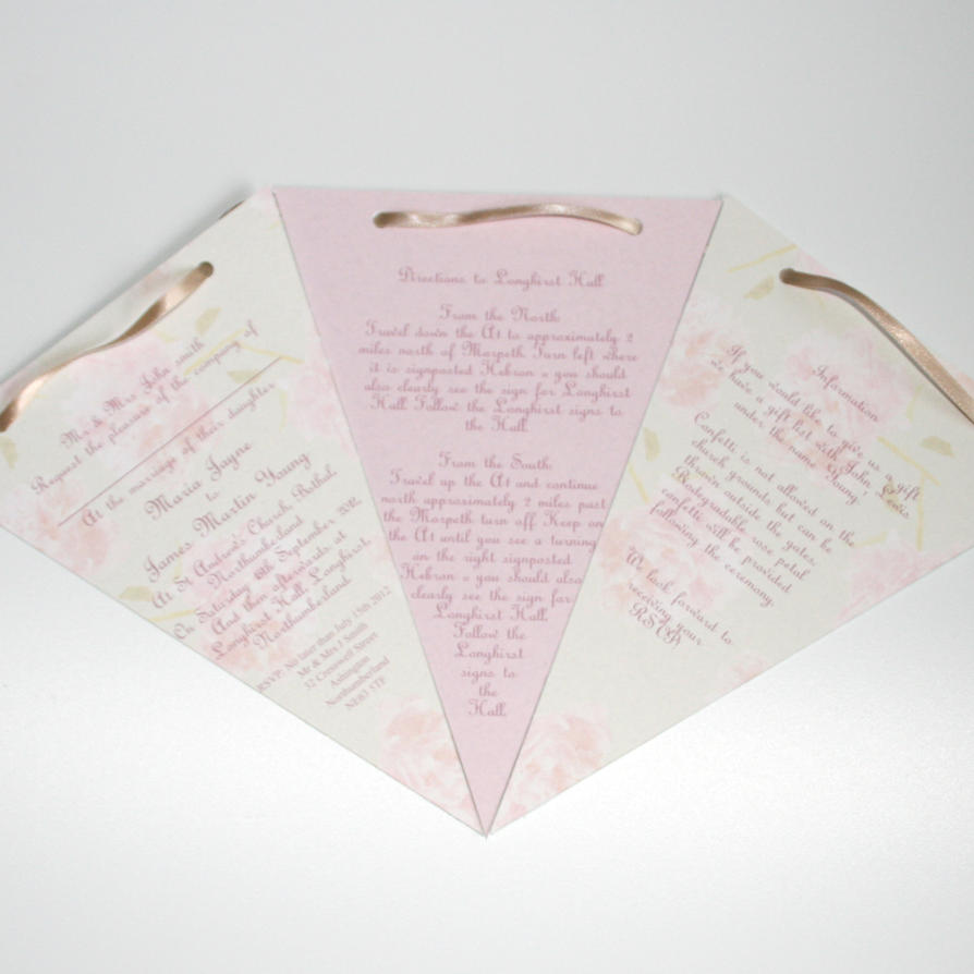 Bunting Wedding Invitation by GraphicEmbers on DeviantArt