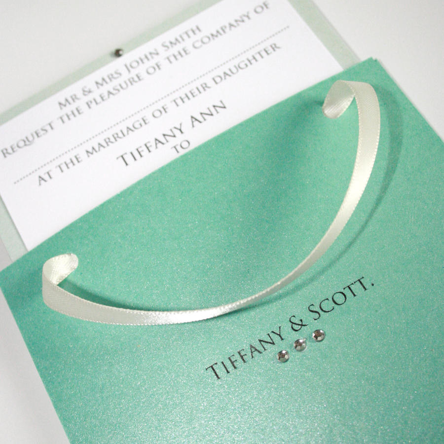 Tiffany Wedding Invitations: Tiffany Bag Inspired Wedding Invitation By GraphicEmbers