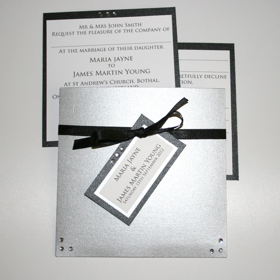 Black Tie Wedding Invitation Wording: Black Tie Wedding Invitation By GraphicEmbers On DeviantArt