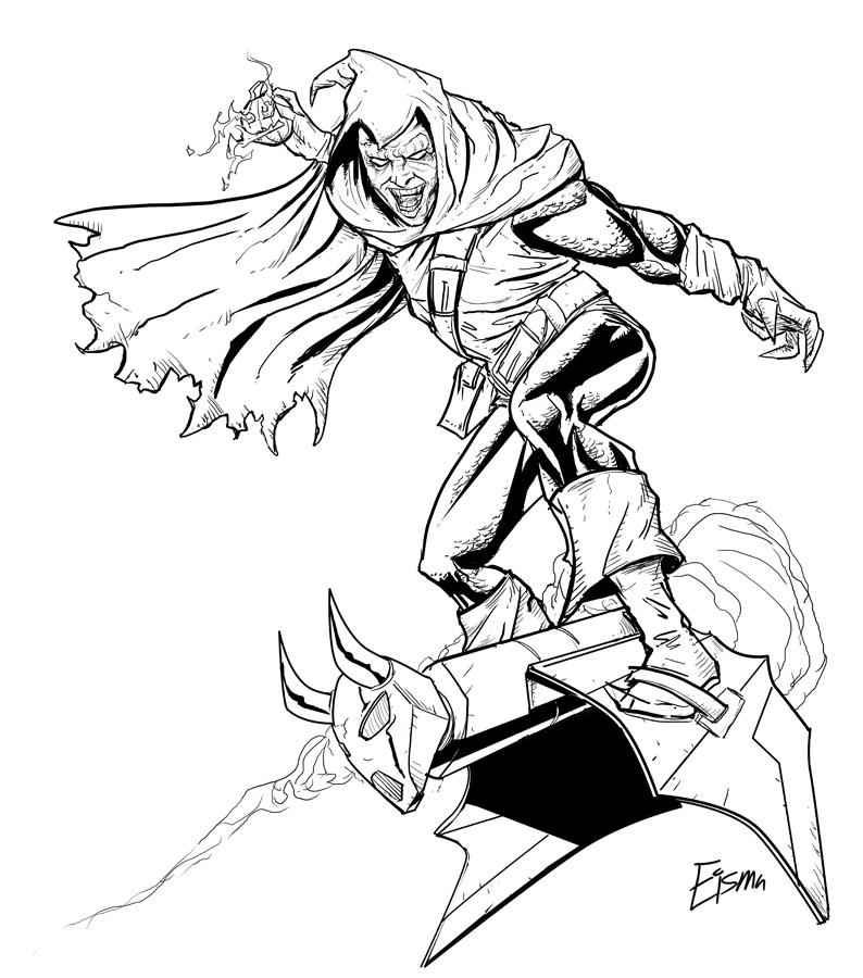 spiderman hobgoblin coloring pages-#2