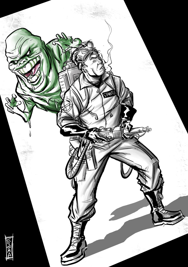 Stantz and Slimer by Supajoe