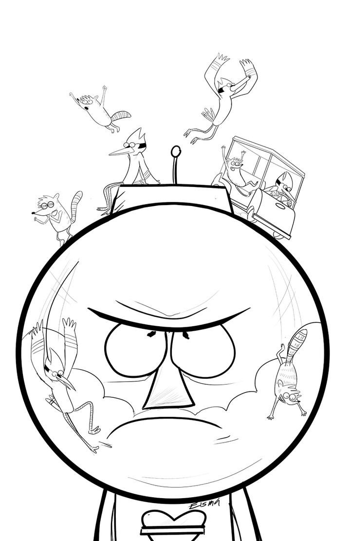 Regular show inks by supajoe on deviantart for Regular show coloring pages