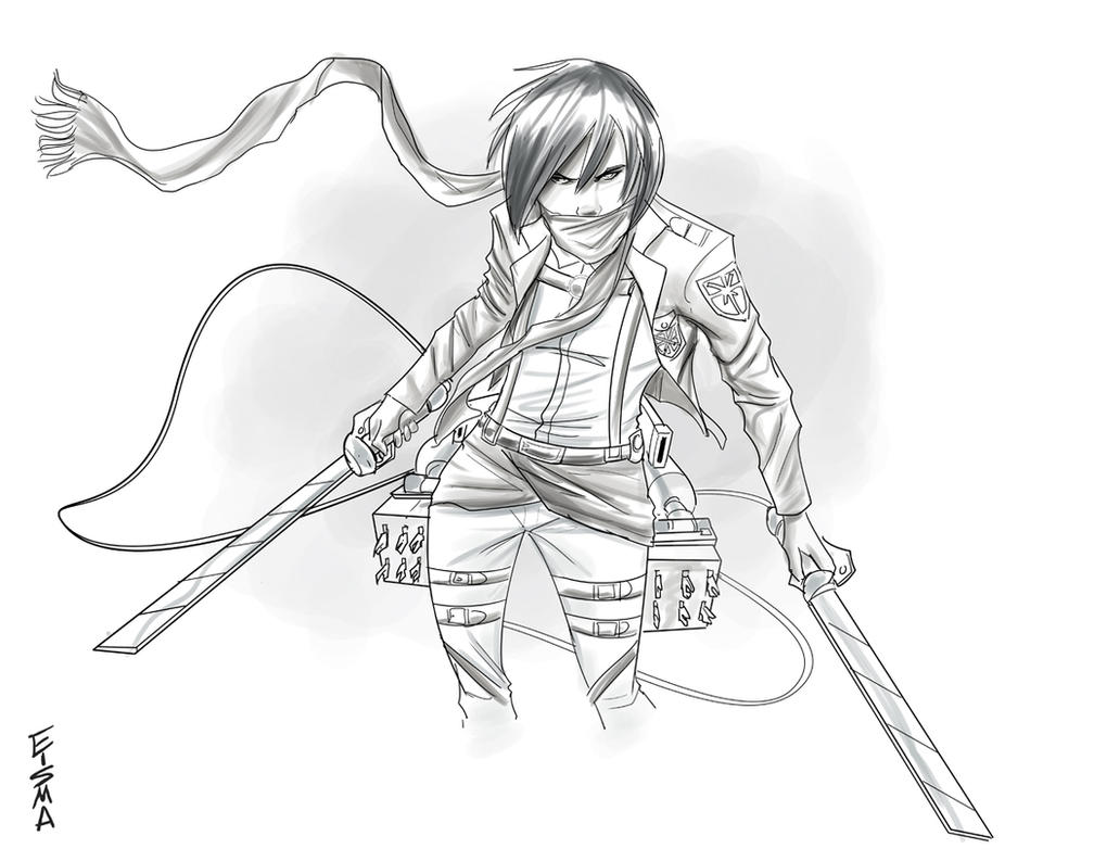 Mikasa From Attack On Titan By Supajoe On DeviantArt