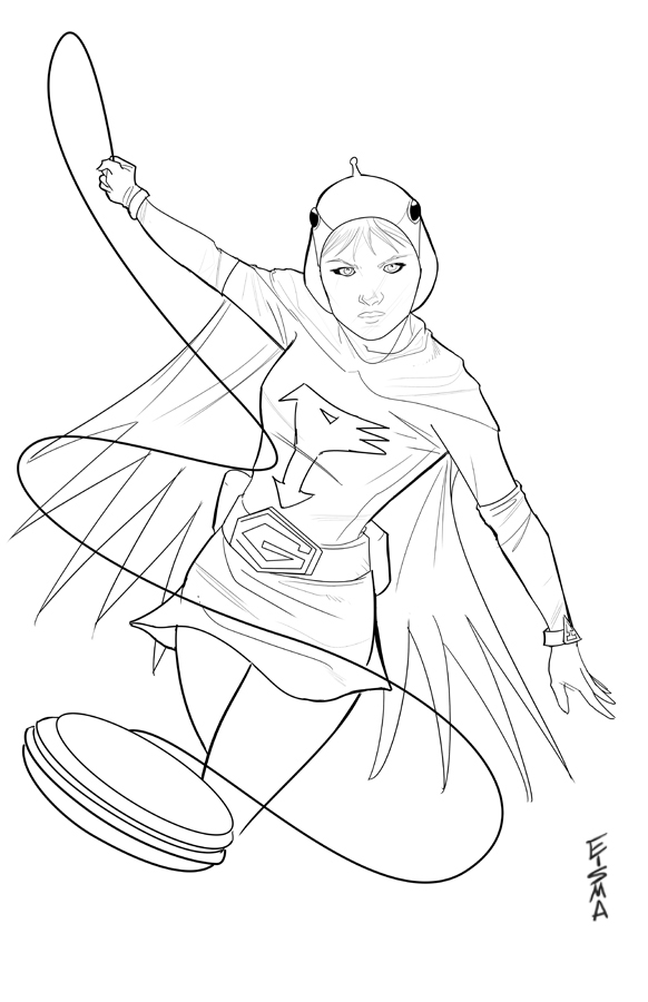 Jun from gatchaman by supajoe on deviantart for G force coloring pages
